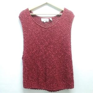 Vintage Ted Sollod Red Sleeveless sweater Large
